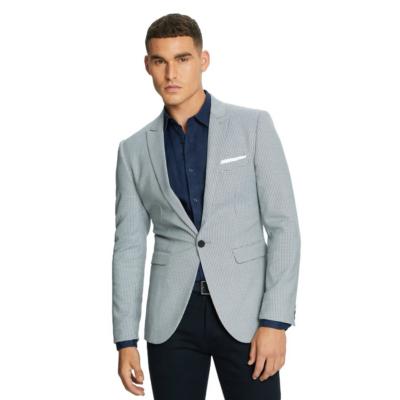Fashion 4 Men - yd. London Houndstooth Blazer Blue/Navy M