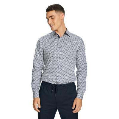 Fashion 4 Men - yd. Ramos Slim Shirt Dark Blue M