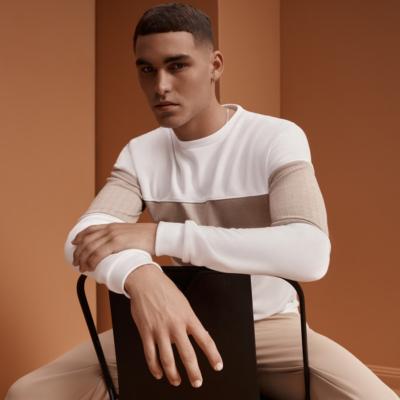 Fashion 4 Men - yd. Sirius Spliced Long Top White M