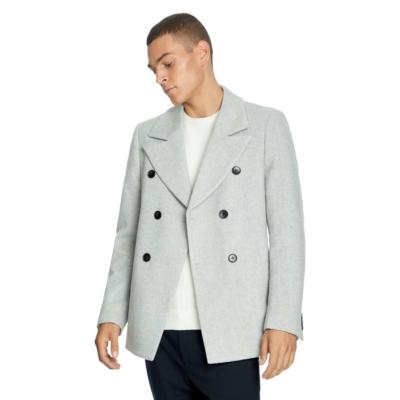 Fashion 4 Men - yd. Sterling Pea Coat Silver 2 Xs