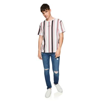 Fashion 4 Men - yd. Vortex Stripe Tee Pink M