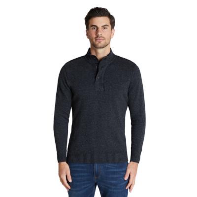 Fashion 4 Men - Tarocash Selby Textured Knit Charcoal Xxl