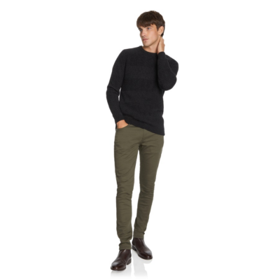 Fashion 4 Men - yd. Mica Knit Charcoal 2 Xs