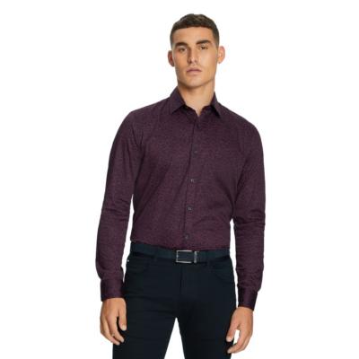 Fashion 4 Men - yd. Silva Slim Shirt Berry 3 Xs