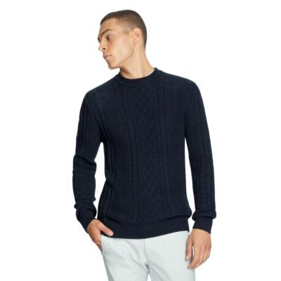 Fashion 4 Men - yd. Tryon Cable Knit Navy 2 Xs